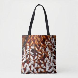 Kupferner Fasan-Feder-Entwurf Tasche
