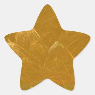 Kupfernes Blatt des Goldn:  Lotus gravierte Stern-Aufkleber