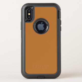 Kupfernes Brown OtterBox Defender iPhone X Hülle