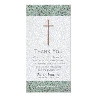 Kupfernes Kreuz/Steinbegräbnis danken Ihnen Bilder Karten