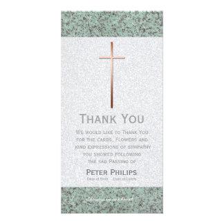 Kupfernes Kreuz/Steinbegräbnis danken Ihnen Photokarten