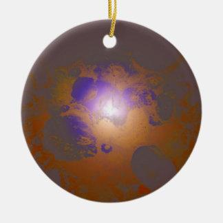 Kupfernes lila schönes einzigartiges Muster Rundes Keramik Ornament
