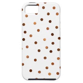 Kupfernes Punkt-Muster iPhone 5 Schutzhülle