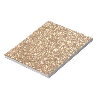 Kupfernes Rosen-Goldmetallischer Glitter Notizblock