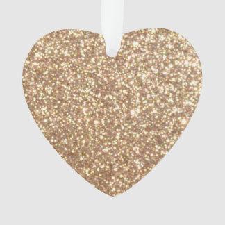 Kupfernes Rosen-Goldmetallischer Glitter Ornament