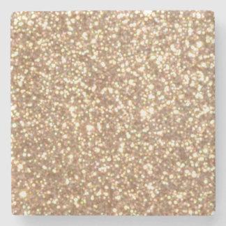 Kupfernes Rosen-Goldmetallischer Glitter Steinuntersetzer