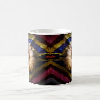 Kürbis auf einem silk Gewebe Kaffeetasse