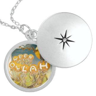 Kürbis-Eulen-Schläger-Vollmond Sterling Silberkette