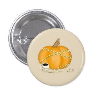 Kürbis-Fall-Thema Runder Button 2,5 Cm