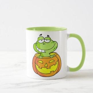 Kürbis-Flecken-Baby-Frosch Tasse