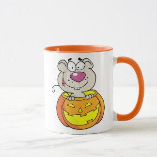 Kürbis-Flecken-Baby-Ratte (oder Maus) Tasse