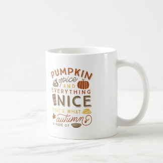 Kürbis-Gewürz-typografische Herbst-Kaffee-Tasse Kaffeetasse