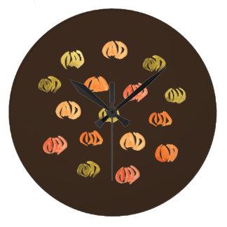 Kürbis-große runde Wanduhr