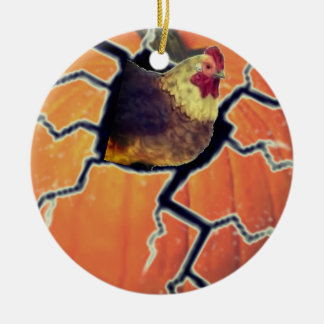 Kürbis-Hahn Rundes Keramik Ornament