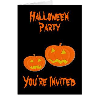 Kürbis-Halloween-Party-Einladungen Karte