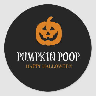 Kürbis kacken Halloween-Aufkleber-Aufkleber Runder Aufkleber