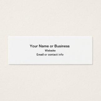 Kürbis-MiniLesezeichen-Geschäfts-Karte Mini Visitenkarte