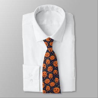 Kürbis-Muster-Kürbislaterne Halloweens niedliche Bedruckte Krawatten