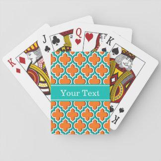 Kürbis-orange aquamariner weißer Marokkaner #5DS Spielkarten