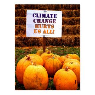 Kürbis-Protest-Klimawandel Postkarte