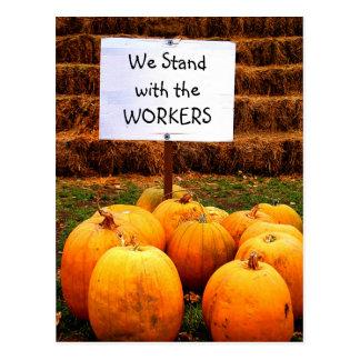 Kürbis-Protest - stehendes w/Labor Postkarten