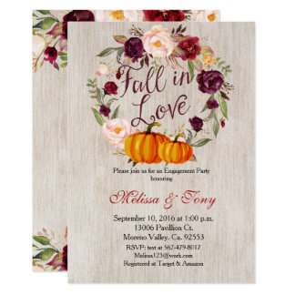 Kürbis-Verlobungseinladung 12,7 X 17,8 Cm Einladungskarte