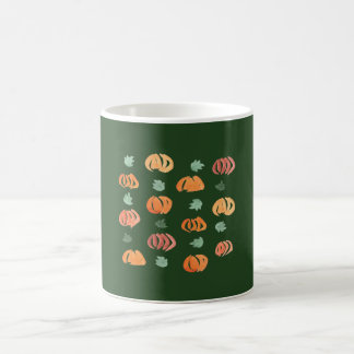 Kürbise mit Blätter 11 Unze-Klassiker-Tasse Kaffeetasse