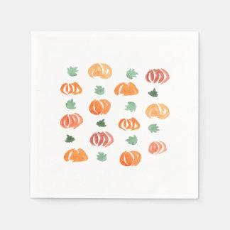 Kürbise mit Blätter-Cocktail-Papierservietten Papierservietten
