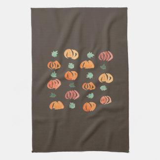 Kürbise mit Blätter-Küchen-Tuch Küchentuch