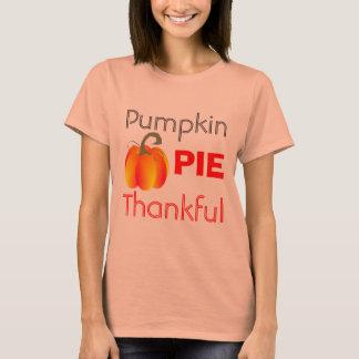 Kürbiskuchen-dankbare lustige herbstliche Grafik T-Shirt