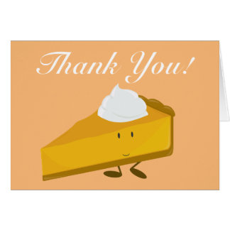 Kürbiskuchen danken Ihnen Karte