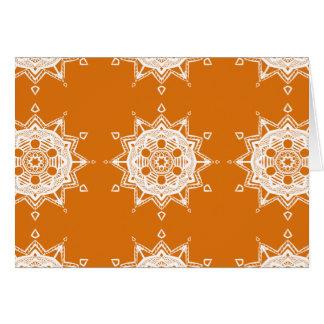 Kürbiskuchen-Mandala Karte