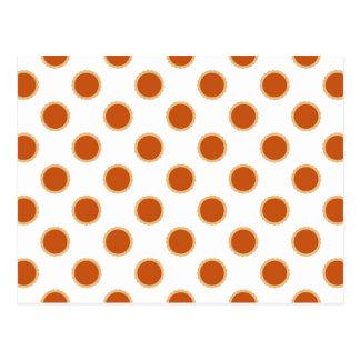 Kürbiskuchen-Muster Postkarte
