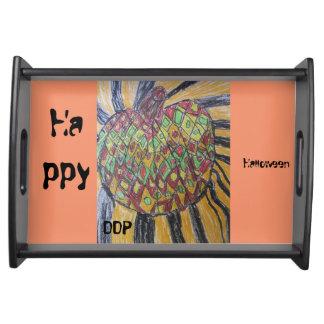 Kürbiskunst Tabletts