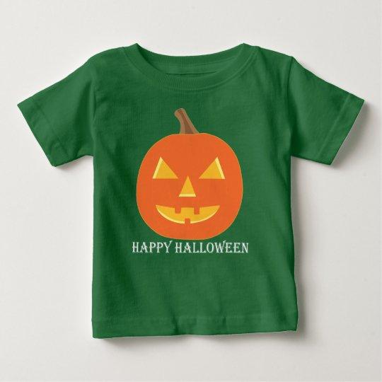Kürbislaterne Halloween Baby T-shirt