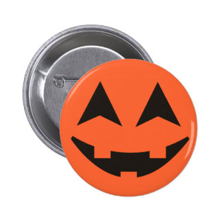 Kürbislaterne-Kürbis-Gesichts-Halloween-Knopf Runder Button 5,7 Cm
