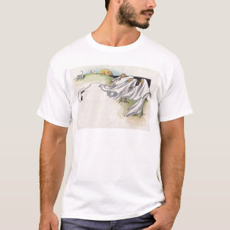 Kürbislaterne-Vogelscheuche-Friedhof T-Shirt