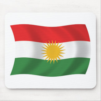 Kurdistan-Flagge Mousepad