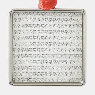 KursivEinhörner Silbernes Ornament
