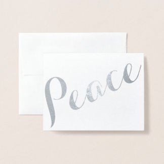 Kursivfolien-Frieden Folienkarte