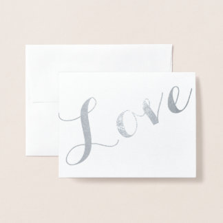 Kursivfolien-Liebe Folienkarte