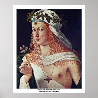 Kurtisane (Porträt von Lucrezia Borgia?) Poster