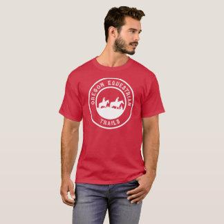Kurz-sleeved T - Shirt mit großem weißem Logo