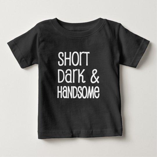 Kurzes dunkles und hübsches lustiges baby t-shirt