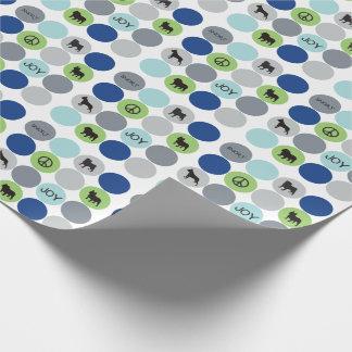 Kurzes Nasen-Verpackungs-Papier - Blau Geschenkpapier