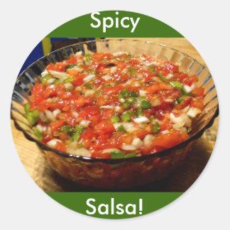 Kürzlich gemachte Salsa Runder Aufkleber