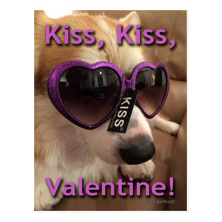 Kuss-Kuss-ValentinsgrußCorgi Postkarte