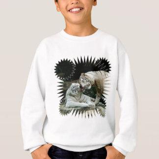 Kuss-Liebe und Freude weiße bengalische Tiger Sweatshirt