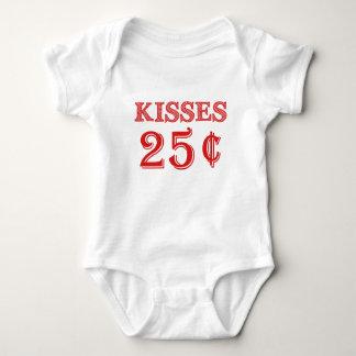 Küsse 25 Cent-Baby-Bodysuit-Valentinstag Baby Strampler