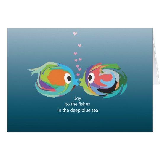 Küssen der Fischanmerkungskarte Karte